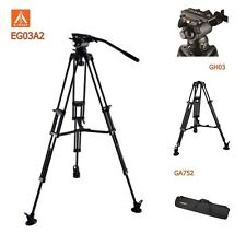 Eimage EG03A2 Tripod kit 2 stage aluminum leg 75mm bolw size GS1 Middle spreader