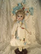"""DOLL DRESS PATTERN FOR 11"""" FRENCH DOLL VICTORIAN STYLE ~ HANNAH"""