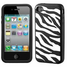 Silicone Skin Case for Apple iPhone 3G/3GS - Zebra