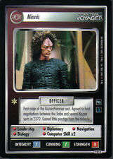 STAR TREK CCG VOYAGER RARE CARD MINNIS
