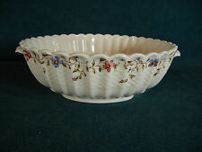 Copeland Spode Wicker Dale Round Vegetable Serving Bowl with Handles