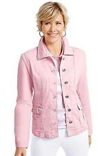 Collection L Womens Denim Look Casual Jacket Size 16 Petite RRP £48.98 Rose