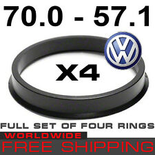 HUB CENTRIC RINGS 70.0 to 57.1mm(SET OF 4 RINGS) 70,0mm-57,1 mm free WORLD shipp