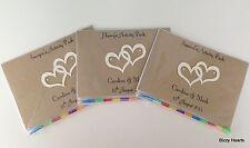Personalizados Para Niños A6 Boda actividad Pack Libro Bolso Fiesta Regalo favor Corazón