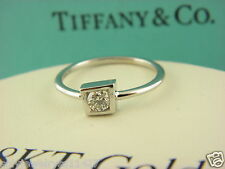 TIFFANY & Co. 18K White Gold Frank Gehry Diamond Torque Ring Sz 6.