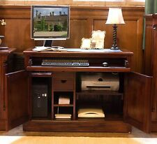 La Roque solid mahogany furniture hidden home office PC computer hideaway desk