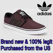 Adidas Skateboarding SEELEY Men's SIZE 9.5 Skateboard Shoes MAROON