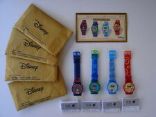 Disney 2004 Digital Watches by SII; Mickey Mouse Donald Duck Goofy Winnie W/COA