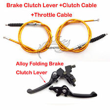 Gold Clutch Throttle Cable Brake Lever For Pit Dirt Bike 90cc 110cc 125cc 150cc