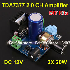 DC 12V TDA7377 40W Dual Channel Stereo Audio Amplifier Board Kits Car Amp DIY