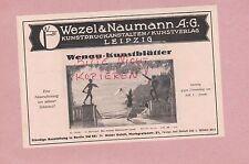 LEIPZIG, Werbung 1925, Wezel & Naumann AG Kunstdruckanstalten Kunstverlag Wenau