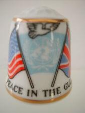 Dé à coudre porcelaine Anglaise SUTHERLAND Thimble - PAIX DANS LE GOLF 28 FEV 91