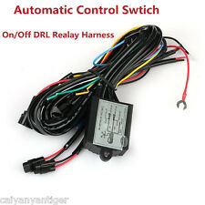 Car LED Daytime Running Light DRL Relay Harness Auto Control On/Off Switch kit