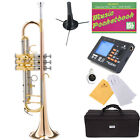 Mendini Rose Brass Monel Valves Bb TRUMPET+$39 Gift