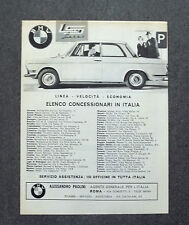 G994 - Advertising Pubblicità - 1963 - BMW ELENCO CONCESSIONARI IN ITALIA