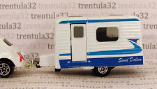 Sand Dollar CARAVAN TRAVEL TRAILER CAMPER white blue Camping 1:64 Matchbox Loose