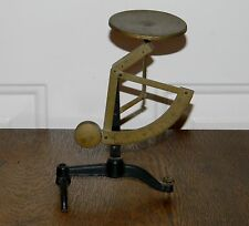 VTG ANTIQUE CAST IRON TIN PLATE & BRASS DESK TOP POSTAL LETTER SCALE COMPLETE