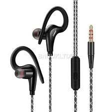 sports in ear over Hook  headphones earphones with mic + For SmartPhones