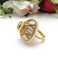Indian Bridal/ Party Wear Adjustable Polki Ring .