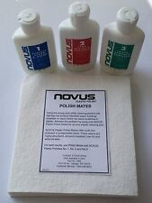 Acrylic polish scratch remover, Novus Polish 1, 2 & 3 VALUE set & 6 Novus Cloths