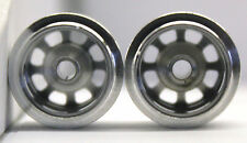 CB DESIGN F1 SILVER ALUMINUM WHEELS 14x12 FOR 3/32 AXLES 1/32 SLOT CAR PART