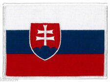 """Slovakia (embroidered) Country Flag Patch 12CM X 19CM (4 3/4"""" X 3 1/2"""") approx"""