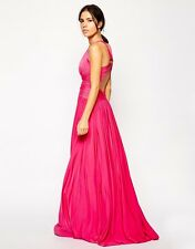 New Forever Unique Ashlyne Fuschia pink full length dress Size 8 RRP £192