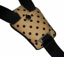 Baby Polka Dot Buckle Crotch Car Seat Pram Highchair Harness Cover Belt Pad NEW