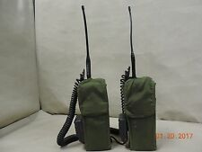 2- U. S. Army RT-1594/PRC-127 Radio's With Battery, Antenna's and Holster's