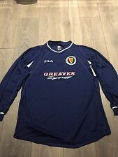 Scotland Schools Match Worn Home Shirt 2002/03 Long Sleeved Number 18 XL Rare