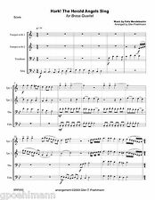 4 more Christmas Carols for BRASS QUARTET Sheet music w/free PRIORITY shipping!