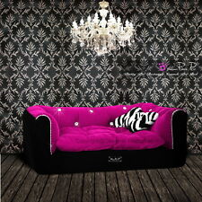 Pretty Pet Rectangle Hundebett sofa Pink / schwarz, fur Chihuahua grosse L