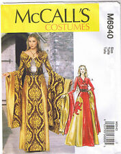 Game of Thrones Renaissance Costume Dress Gown Belt Sewing Pattern 6 8 10 12 14