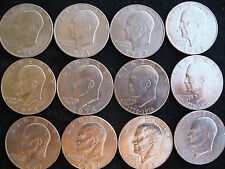 Eisenhower Dollar Ike 1971-1978 P D COMPLETE Set   AU TO BU 12 US Coins.