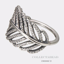 Authentic Pandora Sterling Silver Light As A Feather CZ Ring Size 50 190886CZ