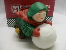 Mint In Box~ SEBASTIAN the SNOWBALL MAKER Dept 56 Merry Makers Monk