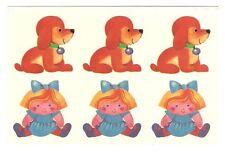 Abziehbild Schiebebild Spielzeug Kind/ Mädchen Hunde (Mot. SB 1 16668) DDR 1990