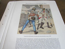 Deutsches Militär archiv 4 Uniformen 4032 Ungarische Deutsch Grenadiere 1799 Öst