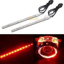 2x 12--SMD Red LED Strip Lights For Car Headlights Housing Mods Devil Lights DIY