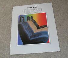 Volvo Interior & Exterior Colour Guide Brochure 1979 - 244 245 264 265 GLE 262C
