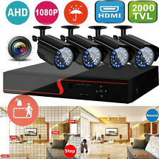 8CH CCTV 1080P DVR 2000TVL IR Video Cameras Home Security System IP CAMERA