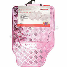4pc Car Mat Set Pink Floor Mats Heavy Duty Universal Non Slip Back New 81117C