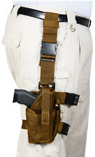 holster leg adjustable drop tactical deluxe coyote fits most 10753 rothco
