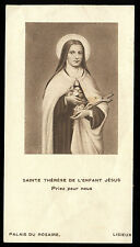 ANTIQUE HOLY CARD OF ST THERESE OF CHILDREN JESUS