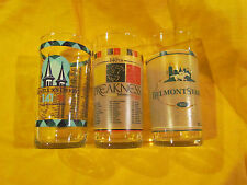 2015 KENTUCKY DERBY - PREAKNESS AND BELMONT STAKES GLASS TRIPLE CROWN SET-AP