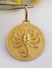 "MEDAGLIA ZODIACALE "" SCORPIONE "" IN ORO 18KT - 18KT SOLID GOLD ZODIACAL MEDAL"