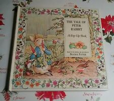 PETER RABBIT POP-UP BOOK, BEATRIX POTTER, OTTENHEIMER, 1994 FLORAL BORDER
