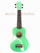 "Beautiful Green 21"" Soprano Ukulele(Rosewood Fingerboard & Bridge) & Ukulele Bag"