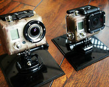 GoPro 1 2 3 HD Multicam Skin for Housing Sticker Decal silver black white