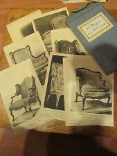 12 cartes fantaisie fauteuils bergeres epoque louis XV artext cards